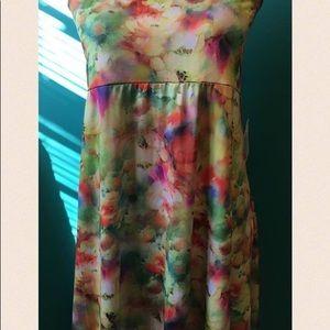 LuLaRoe Floral 3XL Maxi Skirt